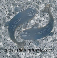 blue gray micro polished pebble mosaic catfish shaped ceramic floor and wall tiles - Copy.jpg