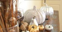 "Ways to Paint and Makeover Plastic Pumpkins �€"" Fall Home Decor"