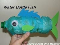 Water bottle crafts are so fun! Recycle a few into cute, colorful water bottle fish.