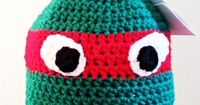 Teenage Mutant Ninja Turtles Crochet Hat (free pattern)