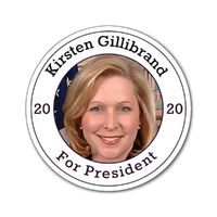"Kirsten Gillibrand For President 2020 Magnets one of each size 3""x3"", 4""x4"", and 6""x6"" $20.50"