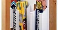 Reclaim some valuable drawer space. Check out everything that came out of your drawers and identify the space hogs. Organizers like these for plastic and aluminum wrap will save you an entire drawer
