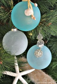 Sea Glass Ornaments by