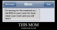 Lol. Should try this at my house! Maybe I could cancel the maids!