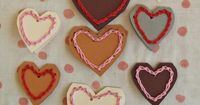 """Crocheted Valentines - Just add a cute saying about being """"hooked"""" or something with """"knots"""" - a kid could even make them!"""