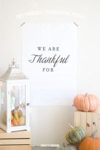 Free Printable Thanksgiving Poster -