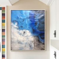 Abstract painting acrylic painting on canvas original huge size abstract Painting Wall Pictures home decor cuadros abstractos blue painting $89.00