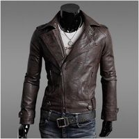 Men's PU leather biker jacket $39.95.