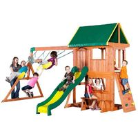 Backyard Discovery Somerset All Cedar Playset-65012com - The Home Depot