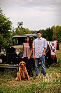I love this beautiful photo. With the old truck in the background and the dog in the front it feels just right. I love the composition and storytelling that is going on here. http://www.macyrobisonphotography.com/tag/headshots/