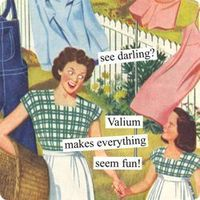 Magnets from Anne Taintor: see darling? Valium makes everything seem fun!