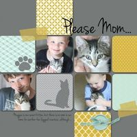 Cat scrapbook page - seems corny but my daughter LOVES our cat this much!!