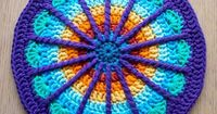 [Free Pattern] Stunning Colours And Design In This Spoke Mandala!