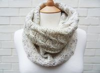 Rustic Cables Scarf Cowl - Misty Morning