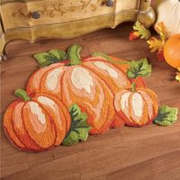 Fall Pumpkin Patch Accent Rug $12.95