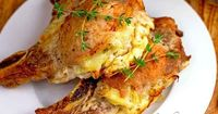 23 Budget-Friendly Pork Chop Recipes | cheese and potato stuffed pork chops.