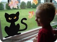 Halloween window crafts