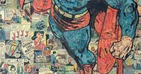 Austin-based collage artist Mike Alcantara made this one-of-kind superman collage entirely out of comic book pieces.