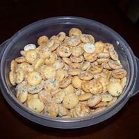 Seasoned oyster crackers this was the very first thing I baked all on my own as a child. I used to feel so grown up making this for family gatherings. Can't wait to share this recipe with my daughter.
