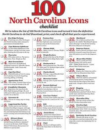 Download the definitive North Carolina to-do list, inspired by our 100 North Carolina icons.