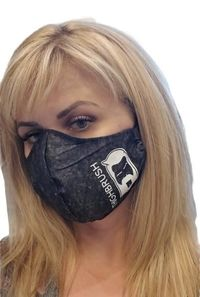 "THIGHBRUSH® - ""Quarantine"" Logo Face Mask - Black"