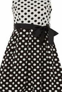 Dorothy Perkins Womens Izabel london Black White Contrast Dot Black white contrast polka dot dress. Round neckline. Sleeveless. Zip fastening. Length 99cm. 97% Polyester,3% Elastane. Cold hand wash. Do not dry clean. http://www.comparestoreprices....