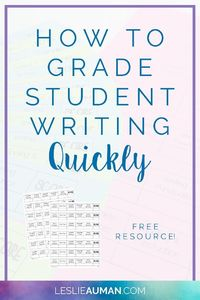 Is the task of grading student writing draining your time and energy? Check out these quick-score rubrics (for free!) to grade student writing faster!
