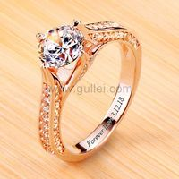 0.6 Carat Round Diamond Custom Engagement Ring by Gullei.com