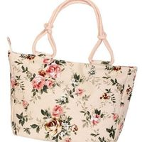 Canvas Floral Striped Shopping Beach Tote Handbag for Ladies,NEW,on Sale! More Info:https://cheapsalemarket.com/product/canvas-floral-striped-shopping-beach-tote-handbag-for-ladies/