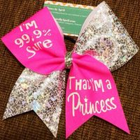 """I'm 99.9% sure that I'm a princess"" this is such a cute bow"