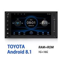 7 Inch for Android 8.1 Car Radio Stereo Quad Core 1+16G GPS Touch Screen HD bluetooth Hands-free OBD2 Support Rear View Camera for Toyota
