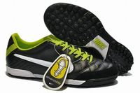 Nike Tiempo Natural IV Leather TF Shoes Black Green White