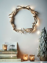 Faux Antler Wreath More