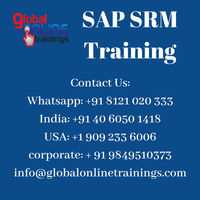 SAP SRM Training integrates with the core ERP system.Supplier Relationship Management Online Course helps organizations optimize procurement operations.