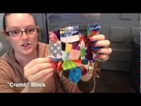 Crumb Quilts tutorial video -- to use up every tiny scrap of leftover fabric!