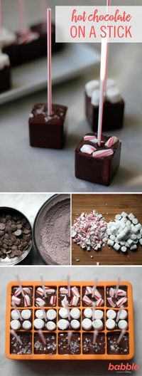 Warm the hearts, and mugs, of your loved ones with these easy DIY Hot Chocolates on a Stick ... if you can bear to part with them.