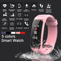 KALOAD M4 0.96in Touch Screen 20m Waterproof Smart Watch HR BP Monitor Find Phone Stopwatch Message Reminder Fitness Tracker Sports Bracelet