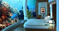 Under water bedroom, Poseidon Undersea Resort, Fiji.