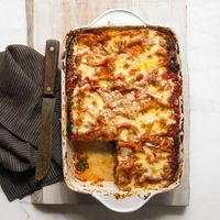 Holy healthy lasagna. Don't deprive yourself of this veggie-filled dish-- get the recipe now! http://recipes.womenshealthmag.com/Recipe/swiss-chard-eggplant-and-mushroom-lasagna.aspx?cm mmc=Pinterest- -womenshealth- -content-food- -potlucklasagna