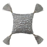 Christian Platinum Velvet with Silver Beads Pillow by Lili Alessandra $213.00