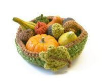 lion brand yarn, crochet patterns and crochet bowl.