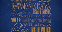 Ravenclaw.. history admires the wise.