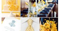 Navy and yellow wedding inspiration board, color palette, mood board...Thiking of a lighter navy blue though don't like how dark it looks.