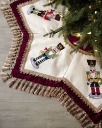 """Nutcrackers""+Tasseled+Christmas+Tree+Skirt+at+Horchow."