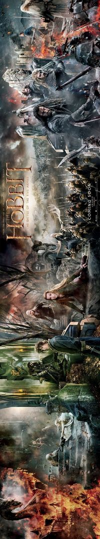"""THEY RELEASED A TAPESTRY POSTER FOR BATTLE OF THE FIVE ARMIES AND I CAN""""T EVEN IT""""S SO BEAUTIFUL"""