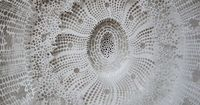 Paper Sculpture with white textures & intricate organic patterns // Rogan Brown #art