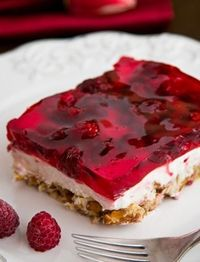 Have you tried this Raspberry Pretzel Jello yet? It's dangerously good and always a favorite at parties!!