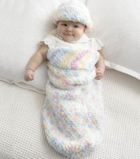 Baby Cocoon and Hat crochet pattern