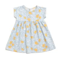 Merano Baby Dress - Holland Floral Blue & Yellow - WWF $42