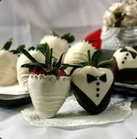 Bride and Groom Chocolate Covered Strawberries